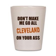 Cleveland Football Shot Glass