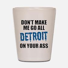 Detroit Football Shot Glass
