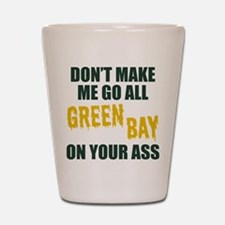 Green Bay Football Shot Glass