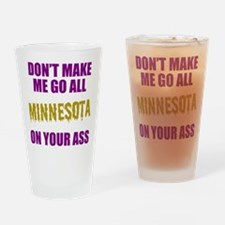 Minnesota Football Drinking Glass