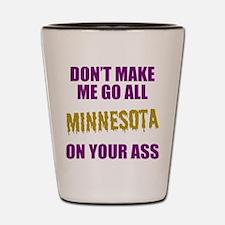 Minnesota Football Shot Glass