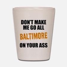 Baltimore Baseball Shot Glass