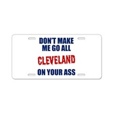Cleveland Baseball Aluminum License Plate