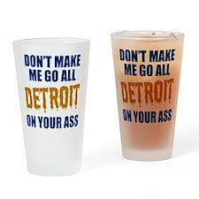 Detroit Baseball Drinking Glass