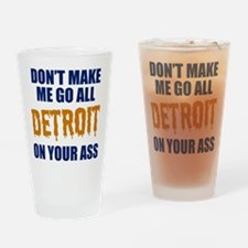 Detroit Baseball Drinking Glass