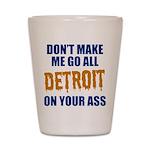 Detroit Baseball Shot Glass