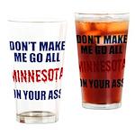 Minnesota Baseball Drinking Glass