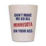 Minnesota Baseball Shot Glass