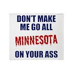 Minnesota Baseball Throw Blanket