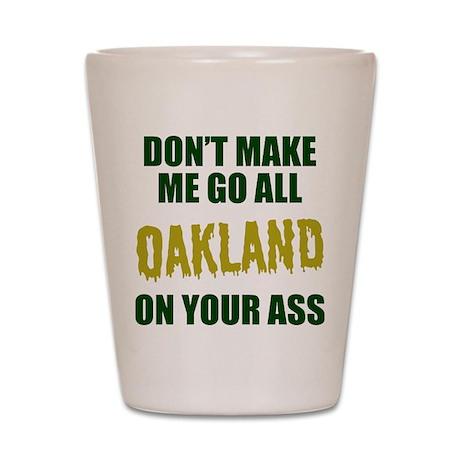 Oakland Baseball Shot Glass