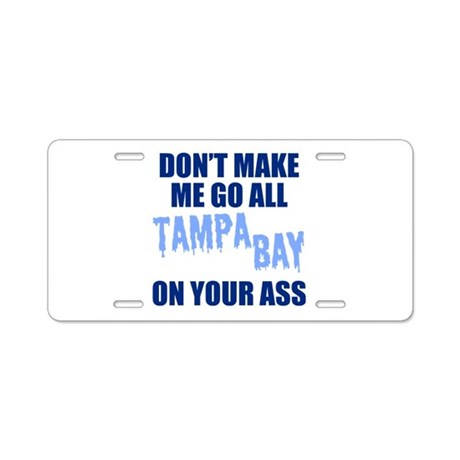 Tampa Bay Baseball Aluminum License Plate