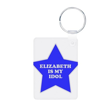 Elizabeth Is My Idol Aluminum Photo Keychain