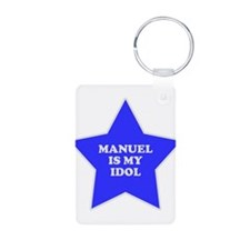Manuel Is My Idol Aluminum Photo Keychain