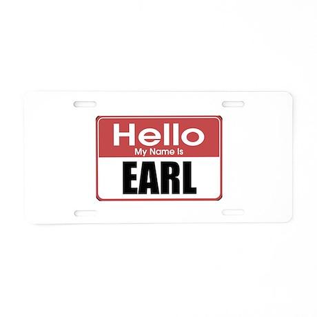 Earl Name Tag Aluminum License Plate