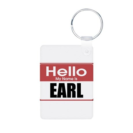 Earl Name Tag Aluminum Photo Keychain