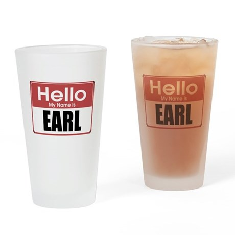 Earl Name Tag Pint Glass