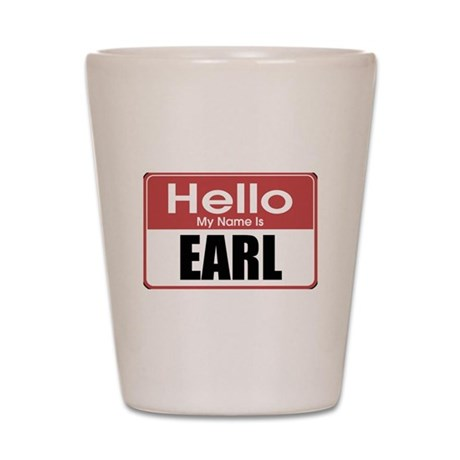 Earl Name Tag Shot Glass
