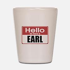Earl Name Tag Shot Glass