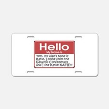 Hello My Name Is Tom Aluminum License Plate