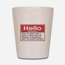 Hello My Name Is Tom Shot Glass