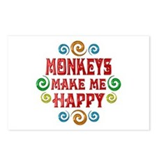 Monkey Happiness Postcards (Package of 8)