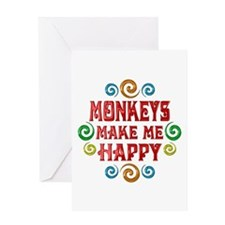 Monkey Happiness Greeting Card