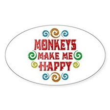 Monkey Happiness Decal