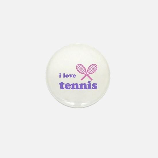 i love tennis (pink/lilac) Mini Button
