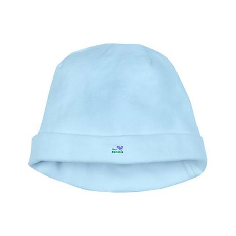i love tennis (purple/green) baby hat