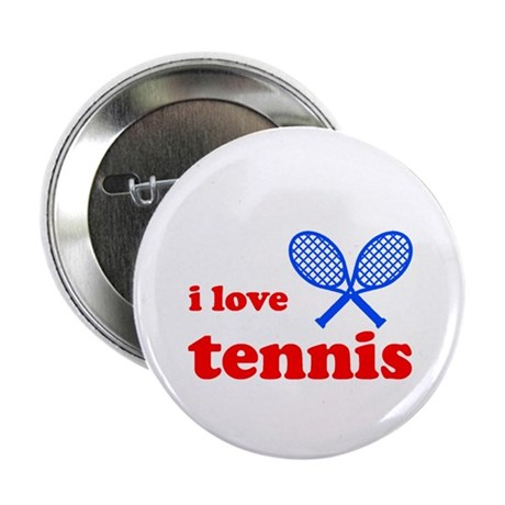 "i love tennis (red/blue) 2.25"" Button"