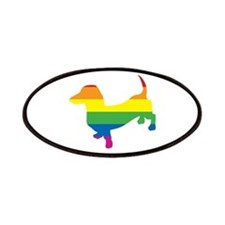 Gay Pride Dachshund Patches