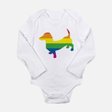 Gay Pride Dachshund Long Sleeve Infant Bodysuit