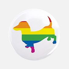 "Gay Pride Dachshund 3.5"" Button"