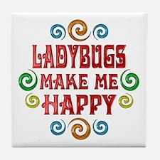 Ladybug Happiness Tile Coaster