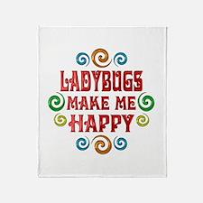 Ladybug Happiness Throw Blanket
