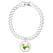 Gay Pride Dachshund Bracelet