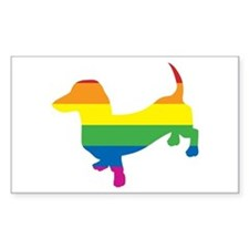Gay Pride Dachshund Stickers