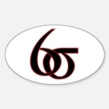 6 Sigma Oval Bumper Stickers
