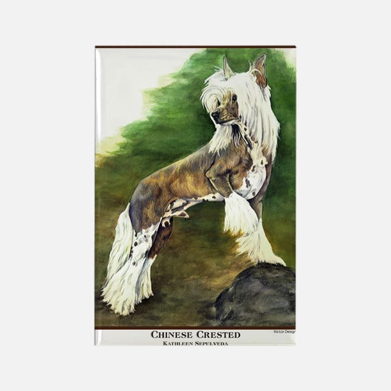 Chinese Crested Painting Rectangle Magnet