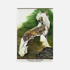 Chinese Crested Painting Rectangle Magnet (10 pack