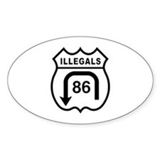 American Illegals Black Oval Decal