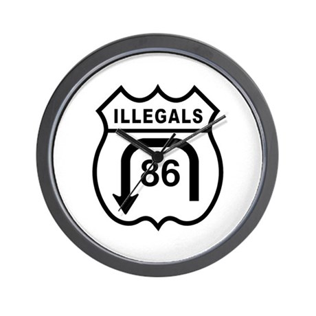 American Illegals Black Wall Clock