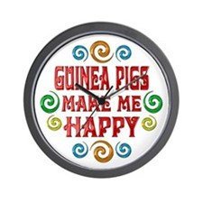 Guinea Pig Happiness Wall Clock