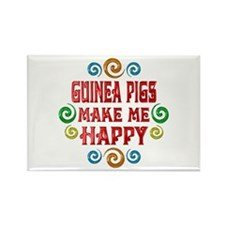 Guinea Pig Happiness Rectangle Magnet (10 pack)