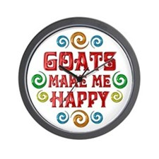 Goat Happiness Wall Clock