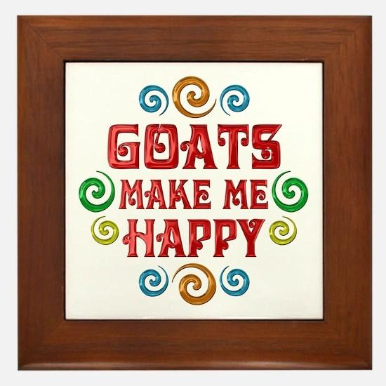 Goat Happiness Framed Tile