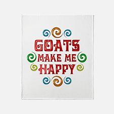 Goat Happiness Throw Blanket