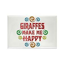 Giraffe Happiness Rectangle Magnet (10 pack)