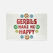 Gerbil Happiness Rectangle Magnet