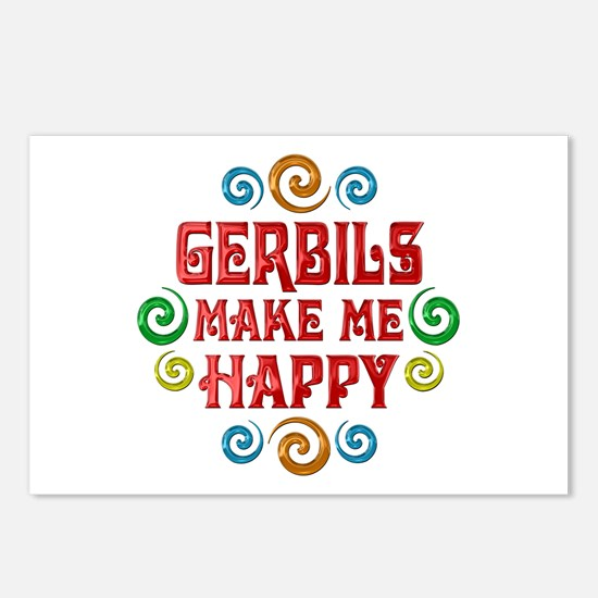 Gerbil Happiness Postcards (Package of 8)